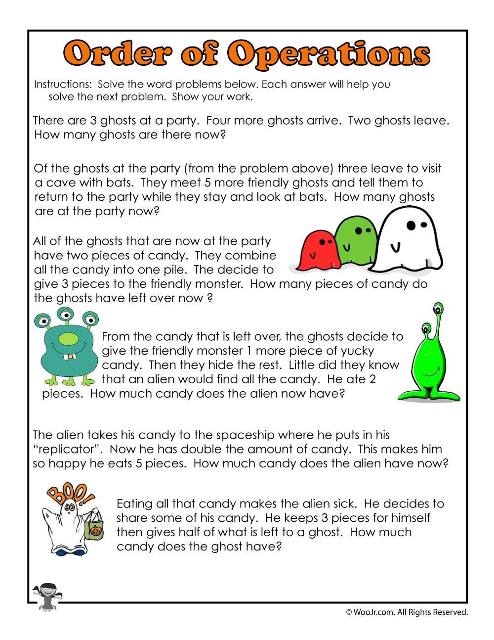 hight resolution of Halloween Math Monsters 3rd Grade   Woo! Jr. Kids Activities
