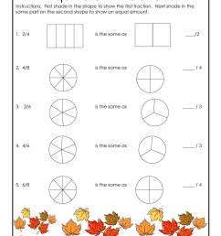 Fall Equivalent Fractions Worksheet   Woo! Jr. Kids Activities [ 1294 x 1000 Pixel ]