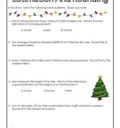 christmas-math-rounding   Woo! Jr. Kids Activities [ 1294 x 1000 Pixel ]