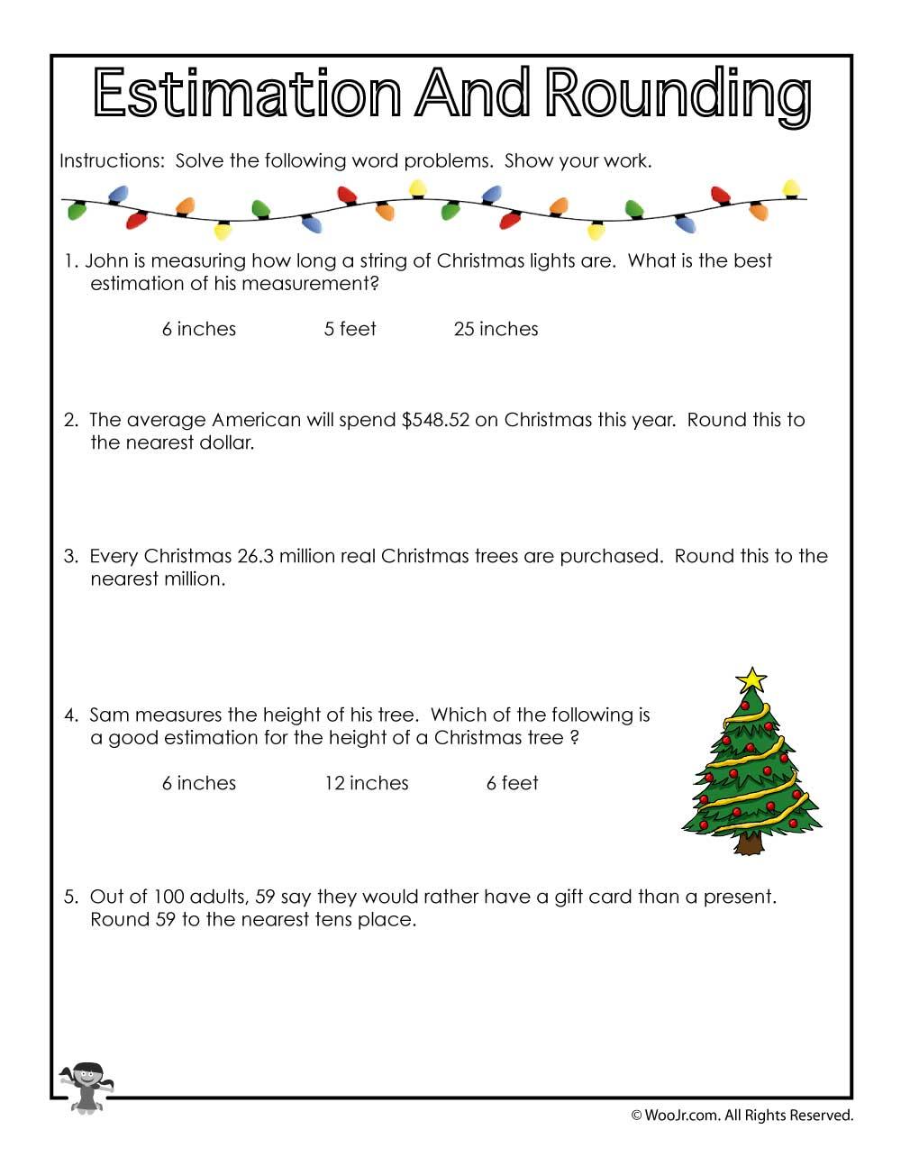 hight resolution of christmas-math-rounding   Woo! Jr. Kids Activities