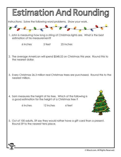 small resolution of christmas-math-rounding   Woo! Jr. Kids Activities