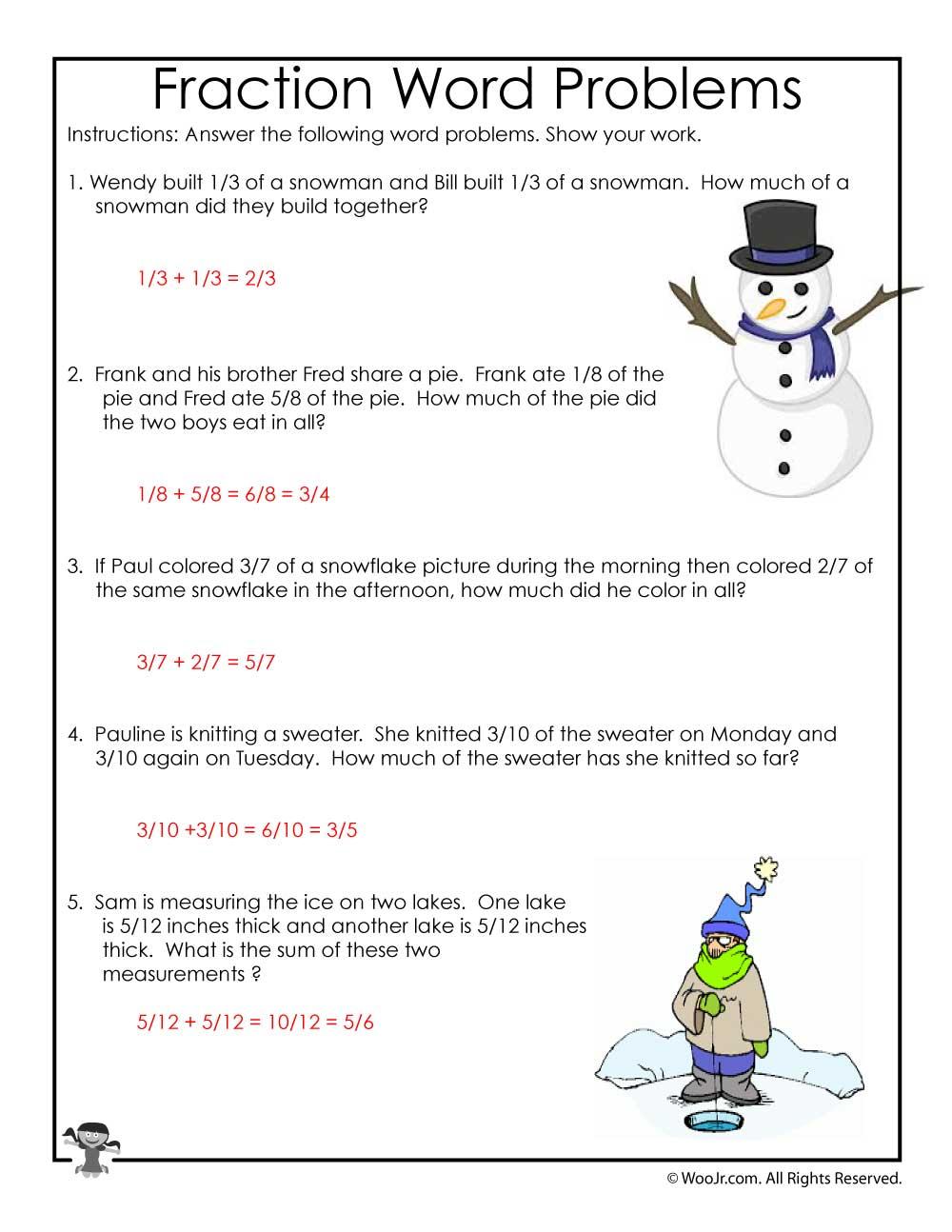 medium resolution of 3rd Grade Math Common Core Worksheets - ANSWER KEY   Woo! Jr. Kids  Activities