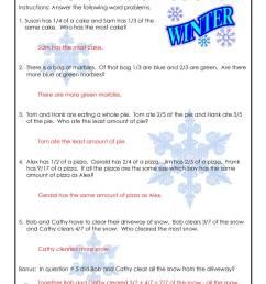 3rd Grade Fractions Math Worksheet - ANSWER KEY   Woo! Jr. Kids Activities [ 1294 x 1000 Pixel ]