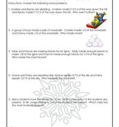 January Fractions Word Problems Worksheet   Woo! Jr. Kids Activities [ 1294 x 1000 Pixel ]