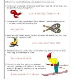 Winter Math Worksheet 3rd Grade - ANSWER KEY   Woo! Jr. Kids Activities [ 1294 x 1000 Pixel ]