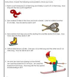 Winter Math Worksheet 3rd Grade   Woo! Jr. Kids Activities [ 1294 x 1000 Pixel ]