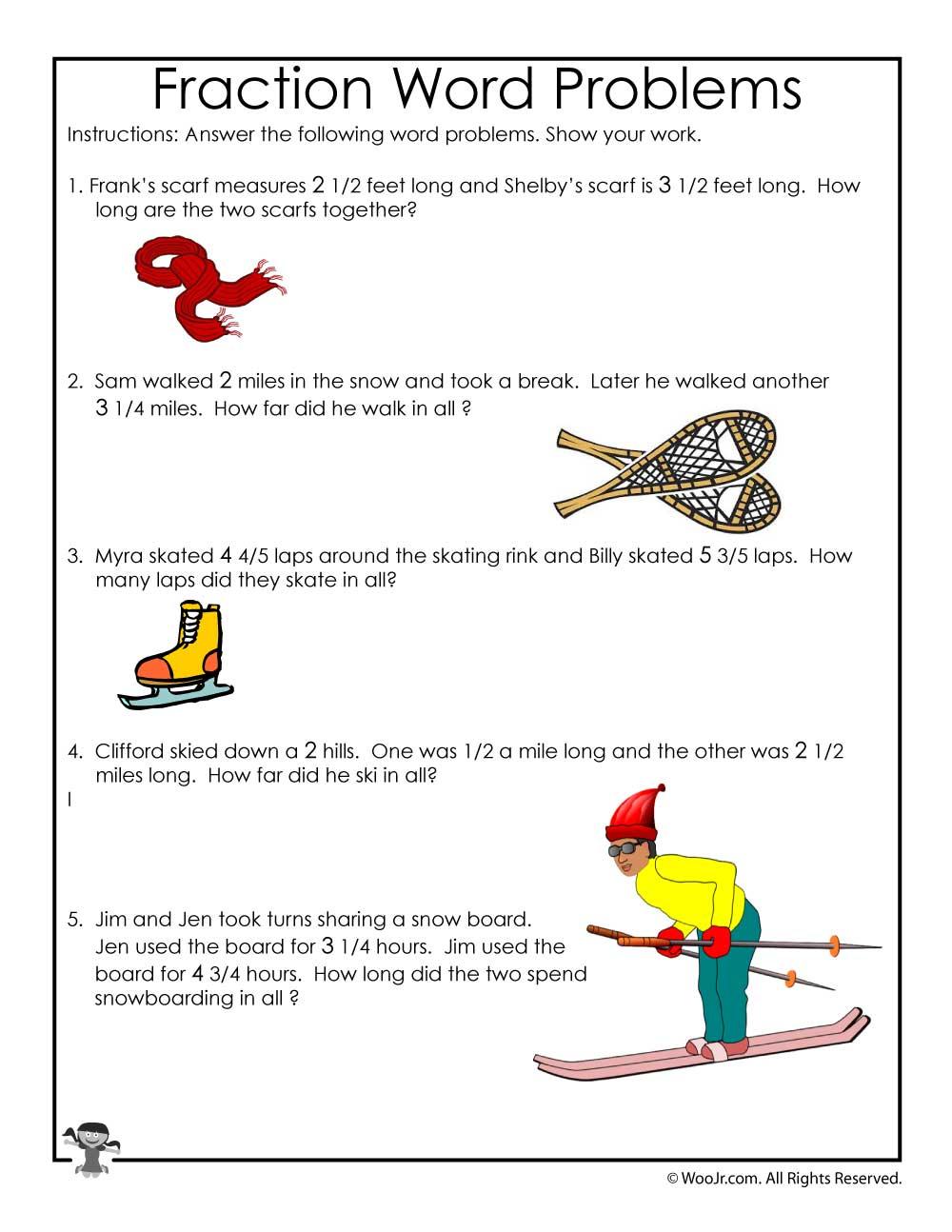hight resolution of Winter Math Worksheet 3rd Grade   Woo! Jr. Kids Activities