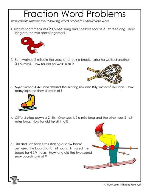 small resolution of Winter Math Worksheet 3rd Grade   Woo! Jr. Kids Activities