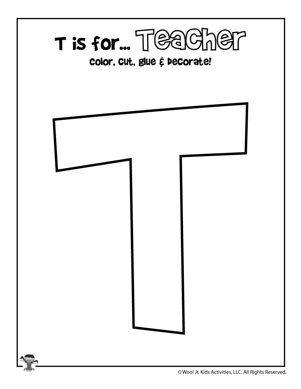 Printable Letter T Craft Woo Jr Kids Activities