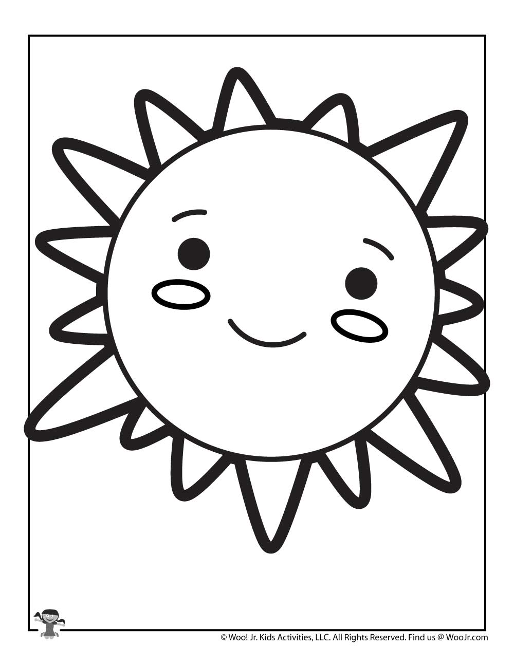Cute Sun Coloring Page For Kids Woo Jr Kids Activities
