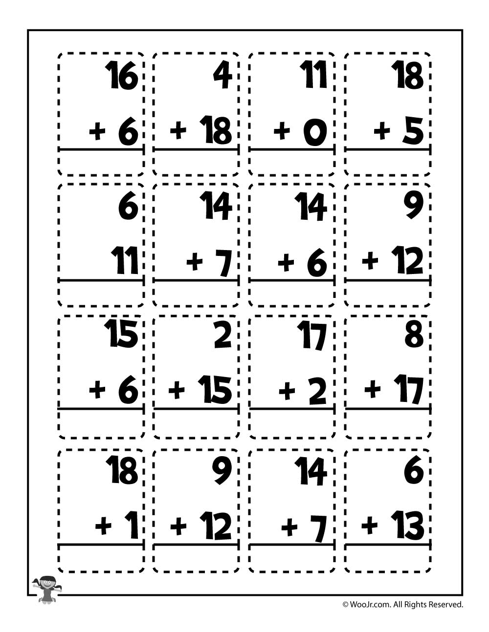 medium resolution of Math Addition Worksheet for 2nd Graders   Woo! Jr. Kids Activities
