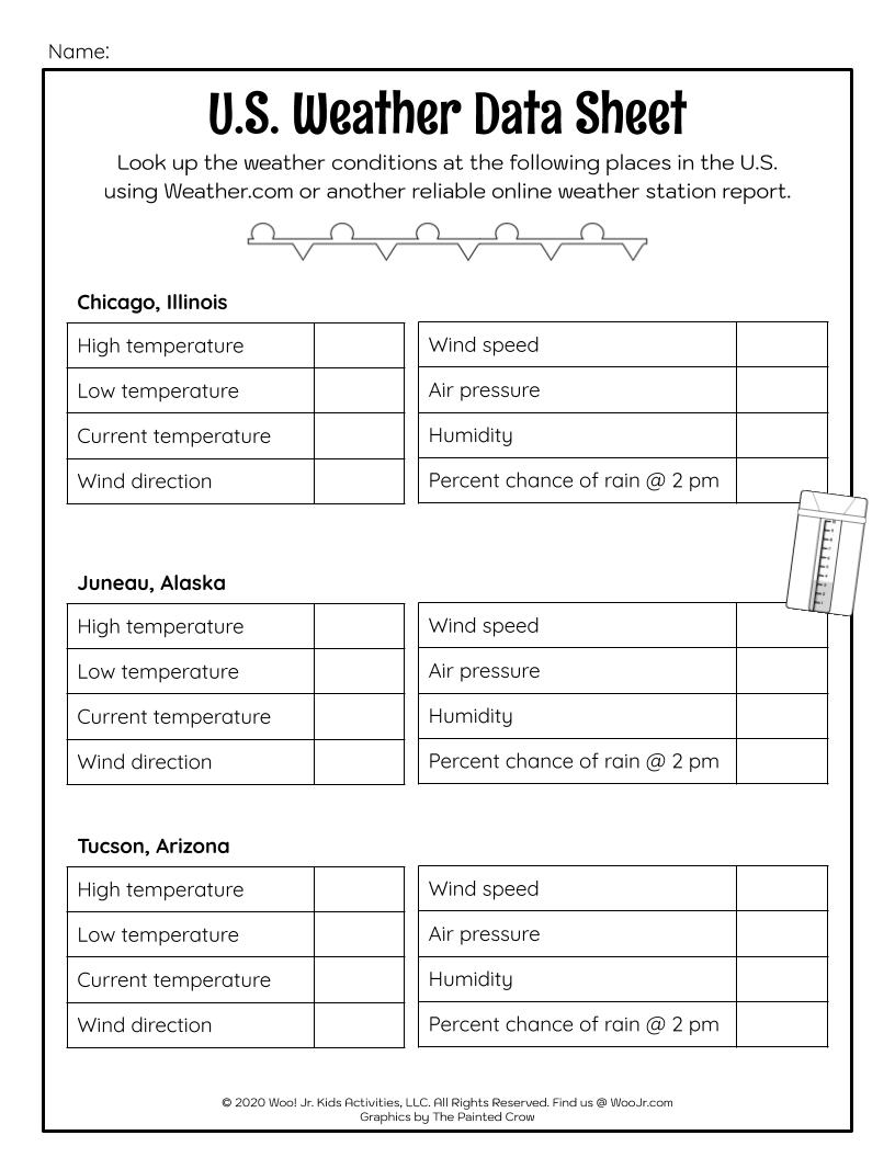 hight resolution of US Weather Data Lesson Worksheet   Woo! Jr. Kids Activities