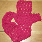 Butternit scarf, showing reverse texture