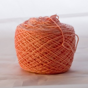 More of a peach - Caber sock yarn from The Yarn Yard