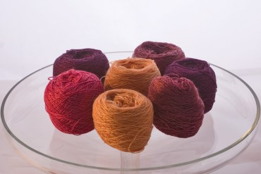 Rich spicy shades in fine laceweight from Colourmart