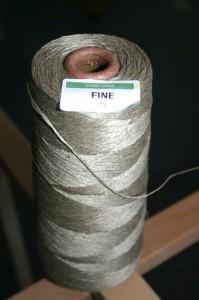 Cone of linen warping thread