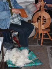 Our newest member was carding a gorgeous Shetland fleece