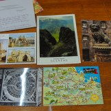 Postcards inside