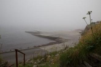 The slipway vanishing into the haar