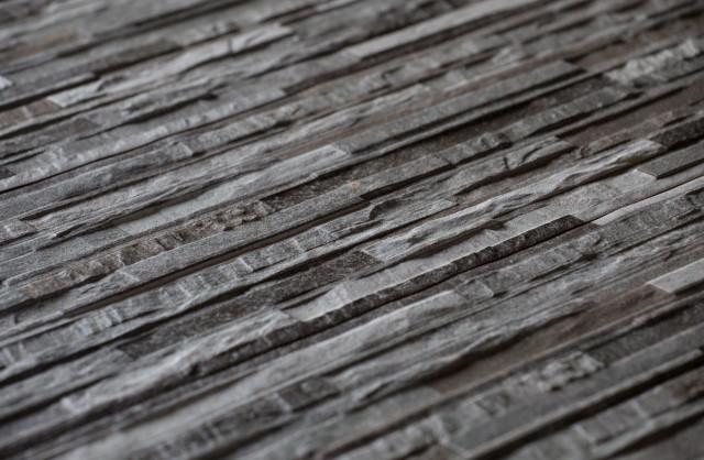Split face ceramic tiles
