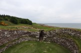 On top of the broch, looking northward