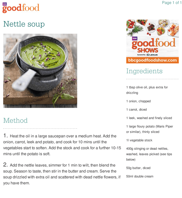 A basic recipe from the BBC. Click to see larger