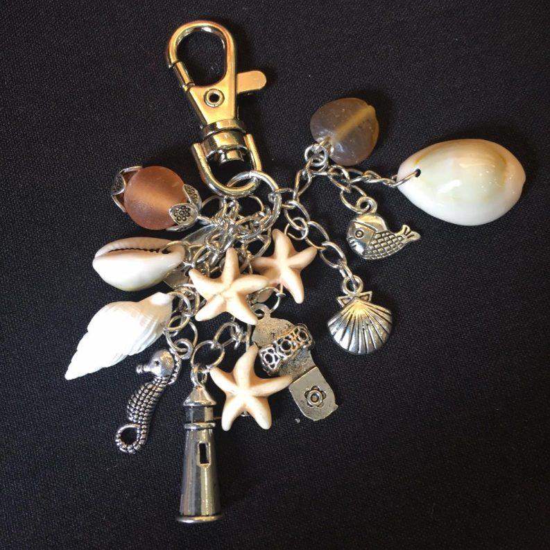 126) Seaside key ring
