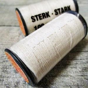 Jeansgarn Ledergarn natur 100m Stärke 40 Polyester Goldmann 841 - Woolnerd