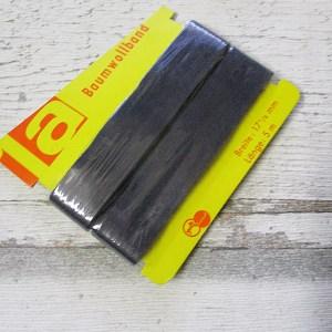 Baumwollband Haushaltsband golfband Baumwolle dunkelblau 17,5mm 5m - Woolnerd