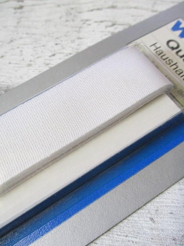 Haushaltsband Wenco weiß Baumwolle 20mm 3m - Woolnerd