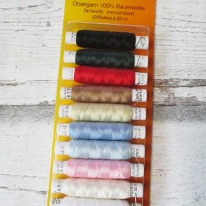 Nähgarn Obergarn SYSTEMA Baumwolle mercerisiert Kombipackung 10_Farben - Woolnerd
