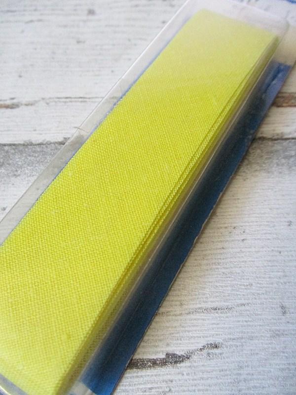 Schrägband Wenco gelb ungefalzt Baumwolle 24mm - Woolnerd