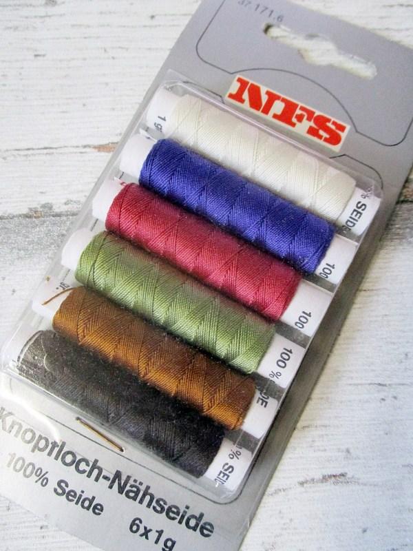 Seide NFS wollweiß lila rot grün braun schwarz - Woolnerd