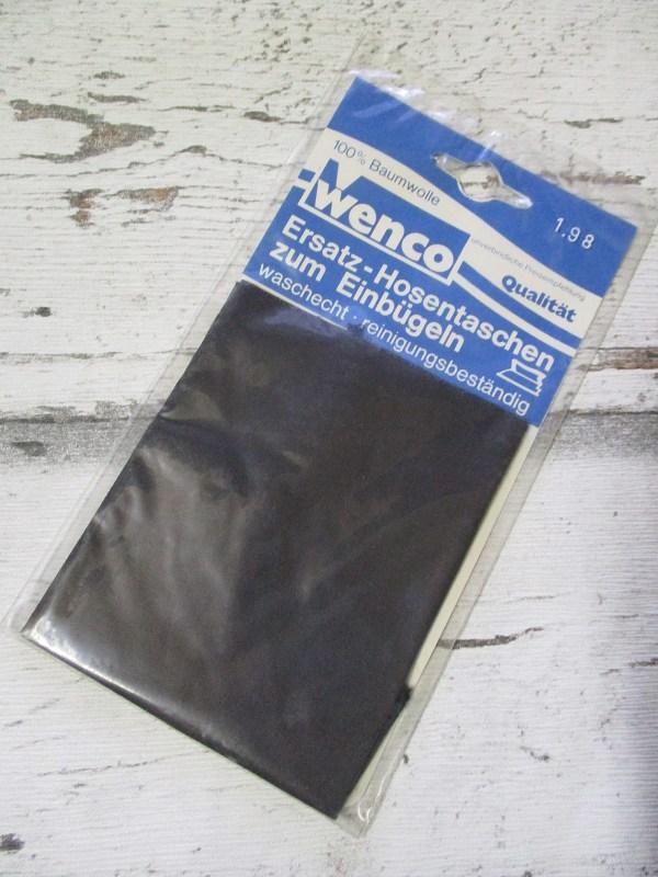Ersatz-Hosentaschen zum_Einbügeln dunkelgrau Wenco - Woolnerd
