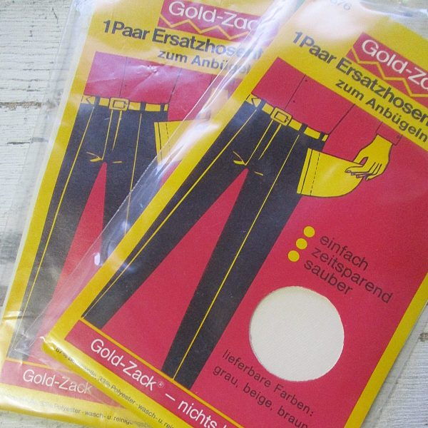 Ersatzhosentaschen Anbügeln beige Gold-Zack - Woolnerd