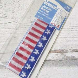 Jeansborte Polyacryl Vintage 70er Stars Stripes America - Woolnerd