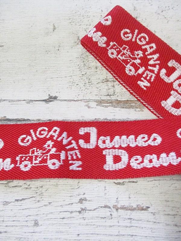 Jeansborte Polyacryl Vintage 70er rot weiß James_Dean Giganten - Woolnerd