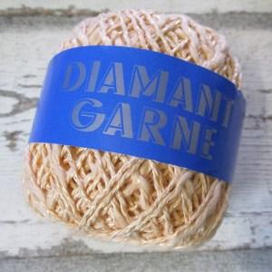 Wolle Diamantgarn Farbe_130 lachsrosa 66umwolle 34%Viskose Seidenglanz - Woolnerd