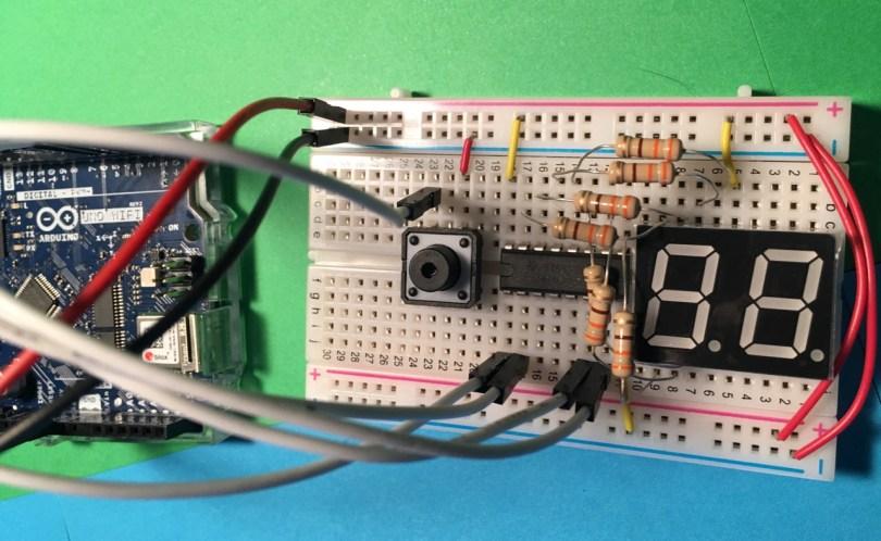 Arduino Uno BCD 7-Segment Display Circuit