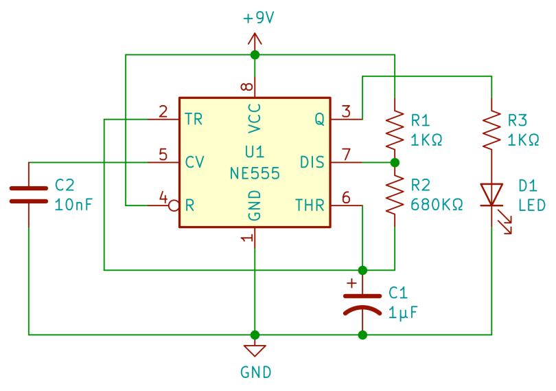 Blink 555 Schematic