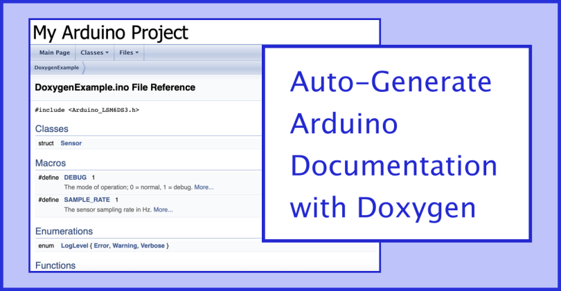 Doxygen For Arduino Graphic