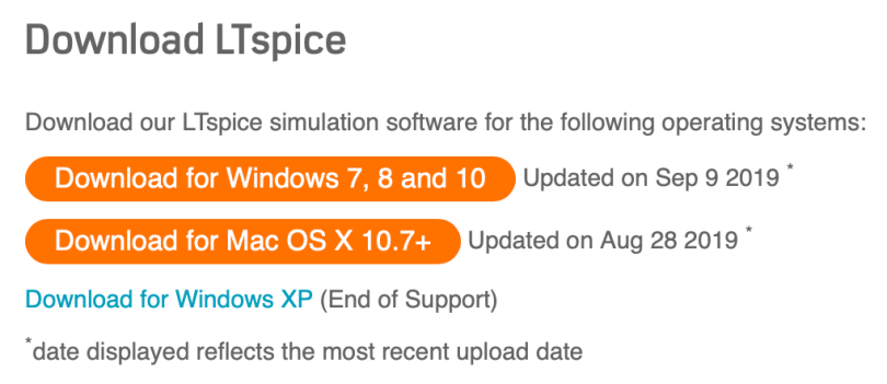 Download LTspice Section Of LTspice Homepage
