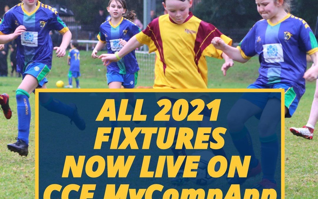 All 2021 Fixtures Now Live