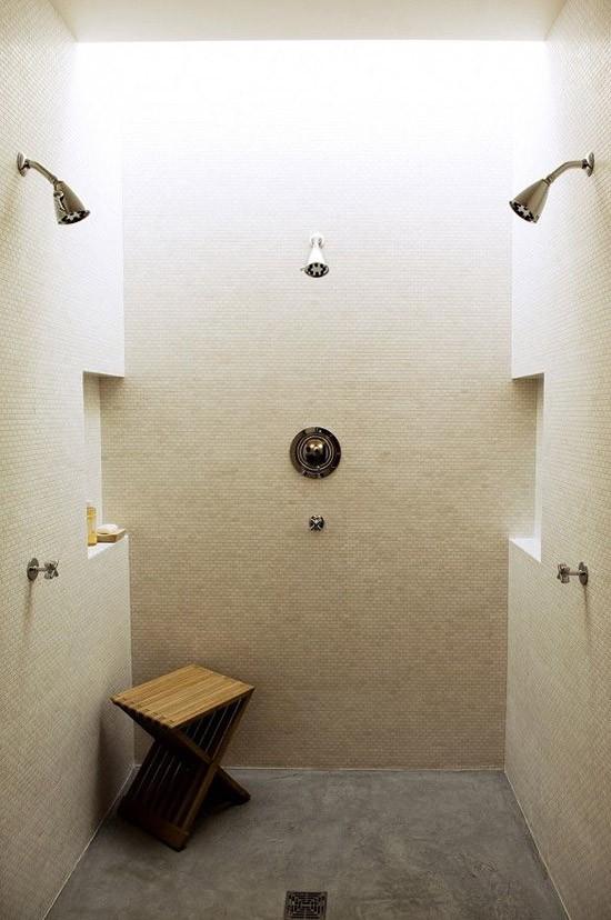 Dubbele douche in de badkamer  Wooninspiratie