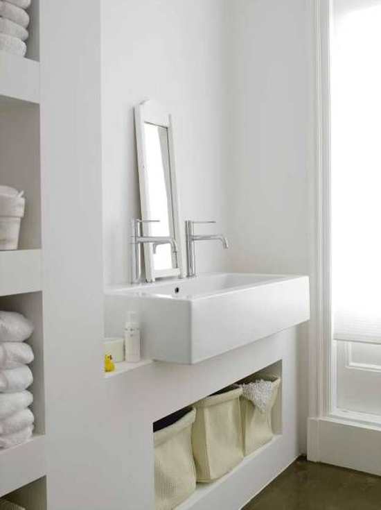 Gestucte muren in de badkamer  Wooninspiratie
