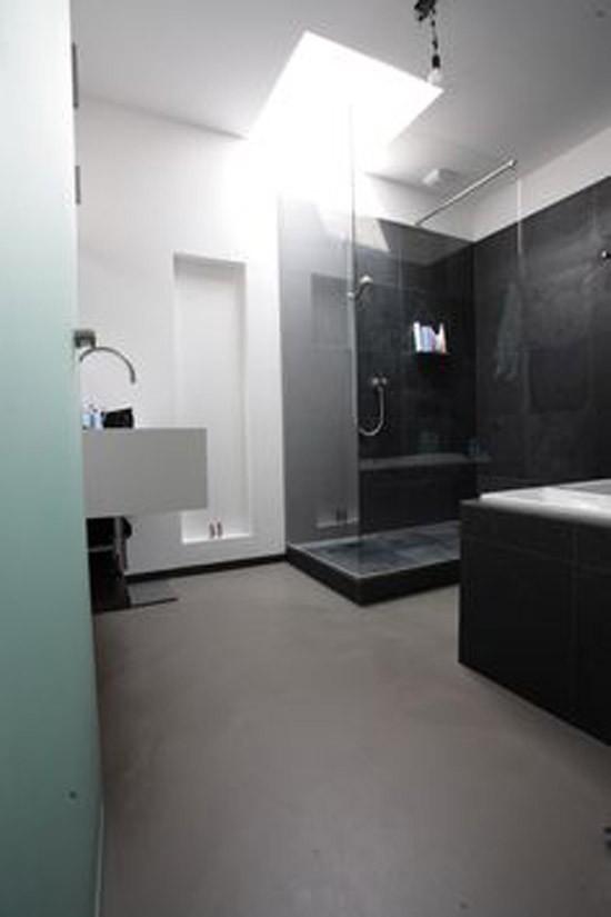 Gietvloer in de badkamer  Wooninspiratie