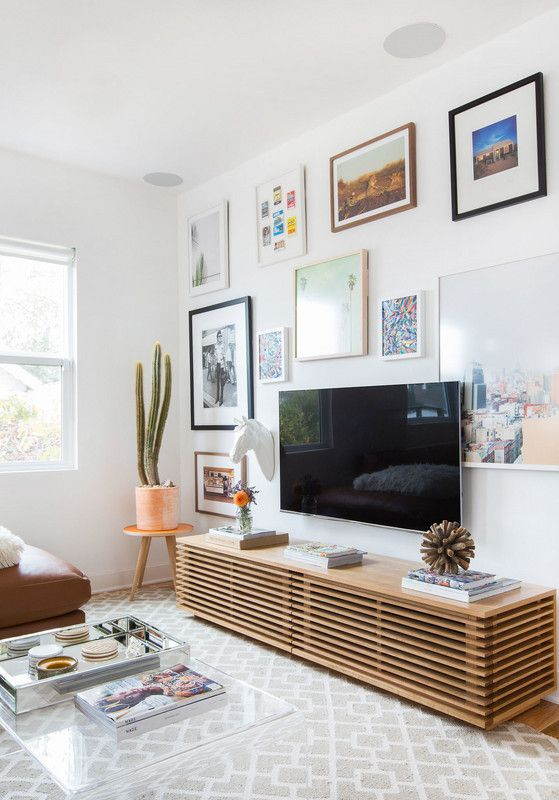 Ideen voor het ophangen van de TV aan de muur