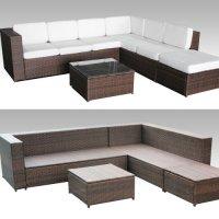 XINRO 19tlg XXXL Polyrattan Gartenmbel Lounge Sofa ...