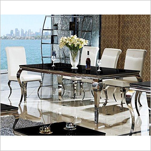Esszimmertisch Esstisch Tisch Glas Edelstahl Lara online