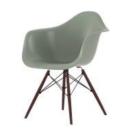 Eames Plastic Armchair Stuhl DAW mit Filzgleitern mossgrau ...